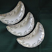 Set of Three China English Bone Dishes