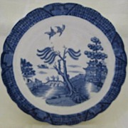 "Blue Willow Plate by Booths ""Old Real Willow"""