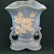 Weller Blue Cameo Pottery Vase