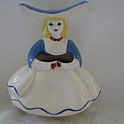 "Figural ""Goldammer"" Ceramic Girl Posy Planter/Vase"