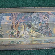 "Vintage Maxfield Parrish Print ""Garden of Allah""  1918"