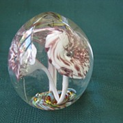 Vintage Hand Blown Glass Paperweight