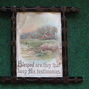 Vintage Wooden Frame with Religious Print
