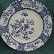 English Flow Blue &quot;Furnivals&quot; Plate