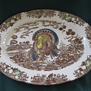 Large Vintage Turkey Platter 18 &quot;x 13 1/2&quot;