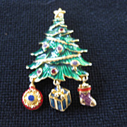 Vintage Christopher Radko Christmas Tree Pin