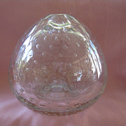 Bubbly Clear Glass Vase