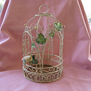 Vintage Decorative Metal Bird Cage