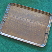 Oak Wood Tray with Built in Handles