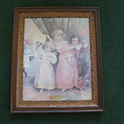 Antique Frame with Victorian Print