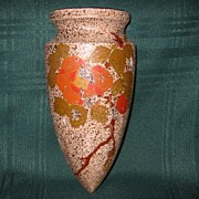 SALE Vintage Pottery Wall Pocket Vase Made in Japan
