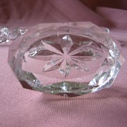 Set of Four Oval Crystal Salts