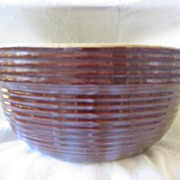 Vintage Stoneware Brown Mixing Bowl