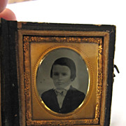 Tin Type Young Boy, 16th Plate size, Anthony 12 yrs