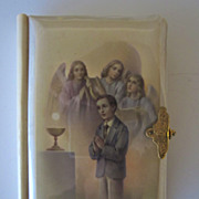 1959 Spanish Celluloid Prayer Book, First Communion, Pristine