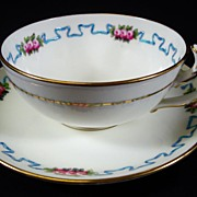 English Minton Hand Painted Tea cup and Saucers 3 available circa 1900