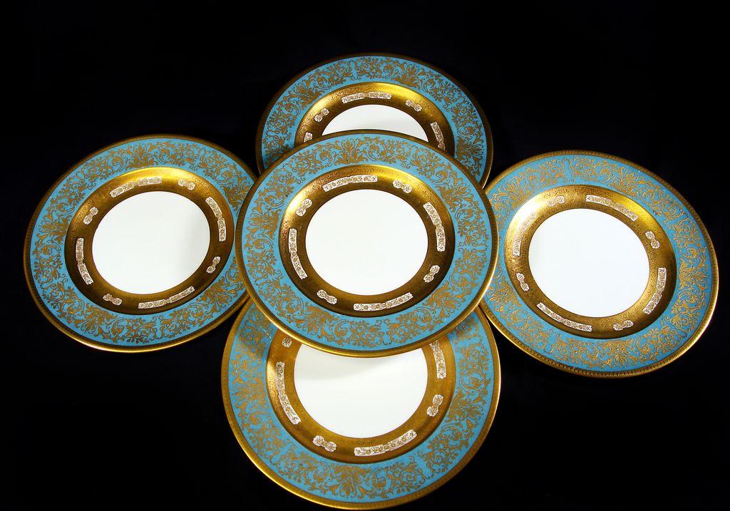 and gilt dinner plates set 12 from provenancenaples on ruby lane