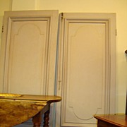 Pair of French Paneled Doors Circa 1850 - Free shipping