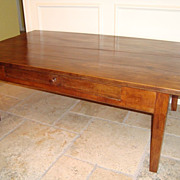 French Farm table-desk, 1 drawer, circa 1860