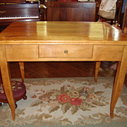 French Farm table/ table desk with one drawer, circa 1850