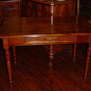 French walnut Louis Philippe table, circa 1850 - Free shipping