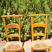 Pair of French prayer chairs Circa 1870