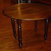 Antique French Louis Philippe table, drop leaves, 1870