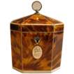 Antique Tortoiseshell Octagonal Single Compartment Tea Caddy - Tented Top c.1810