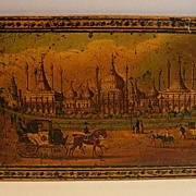 SALE Stunning English Tunbridge Ware Panel - Regency - Royal Pavillion, Brighton, c. 1820