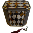 Top Notch & Rare - English George III Tortoise Shell, Mother of Pearl & Ivory Tea Caddy c.1815