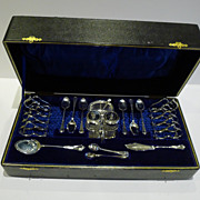 Pristine Antique English Silver Plated Breakfast Serving Set c.1900