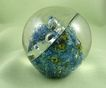 ONE OF A KIND - RARE Robert Barber Abstract Paperweight Dated Oct. 1970