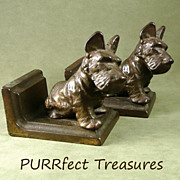 Vintage Pair of Littco Scottie Dog Bookends