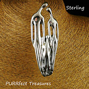 Sterling Silver Modernist Family Pin