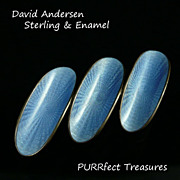 David Anderson Sterling Silver Enamel Brooch / Pin