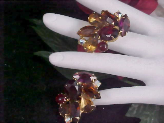 Delizza & Elster JULIANA Marvelous Rhinestones Clip Earrings