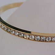 Pave DIAMANTE by AVON Eternity Gold Plate Bangle