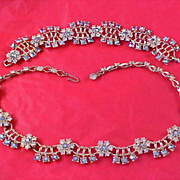 SALE RUNWAY ~ Aurora Borealis & Diamante Demi Parure - Necklace & Bracelet