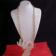 GOLD PLATED - Very Heavy  (183.2 grams) Gold Plated Link Chain Necklace