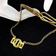 Geometric Modernist Dangle Tie Clasp - Circa 1930's