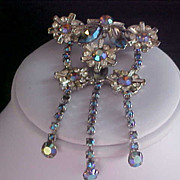Diamante Baguettes & Aurora Borealis  Massive Collar Pin - Two Tacs