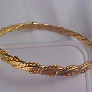 Gold Plate - Ornate Workmanship Bangle  Bracelet by AVON