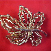 Gold Plate OAK LEAF Oven Workmanship Brooch