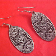CELTIC Earrings - St. Justin Pewter - Made in Cornwall, England