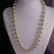 Gilt Gold Massive Bead Necklace