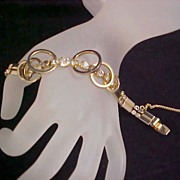 CELESTIAL FIRE -  SIGNED ~ Sarah Coventry's Diamante Bracelet