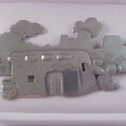 Southwestern  PEWTER  1988 Brooch by JJ