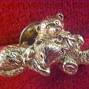 Precious Teddy Bear & Cat Pin/Brooch~Signed CAMCO