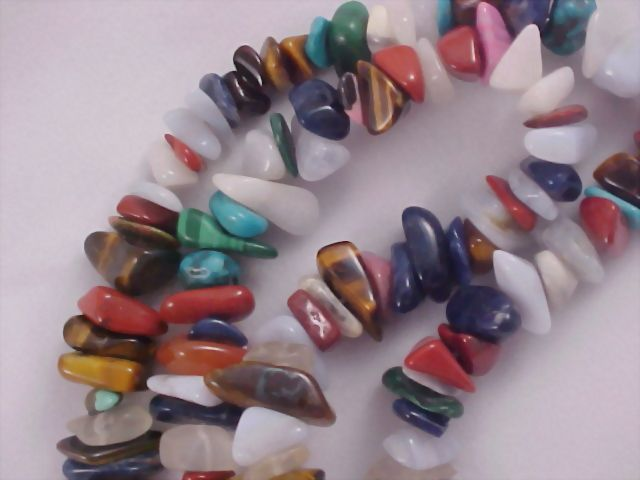Semi Precious Gemstone Necklace ~ Extraordinary Nugget Gemstones
