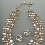 1950s Bead Set with Wonderful Colors-Perfect for Spring